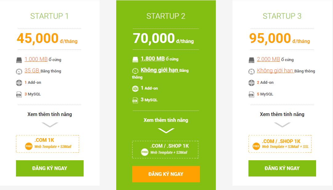 Hosting giá rẻ nhất và tính năng của hosting