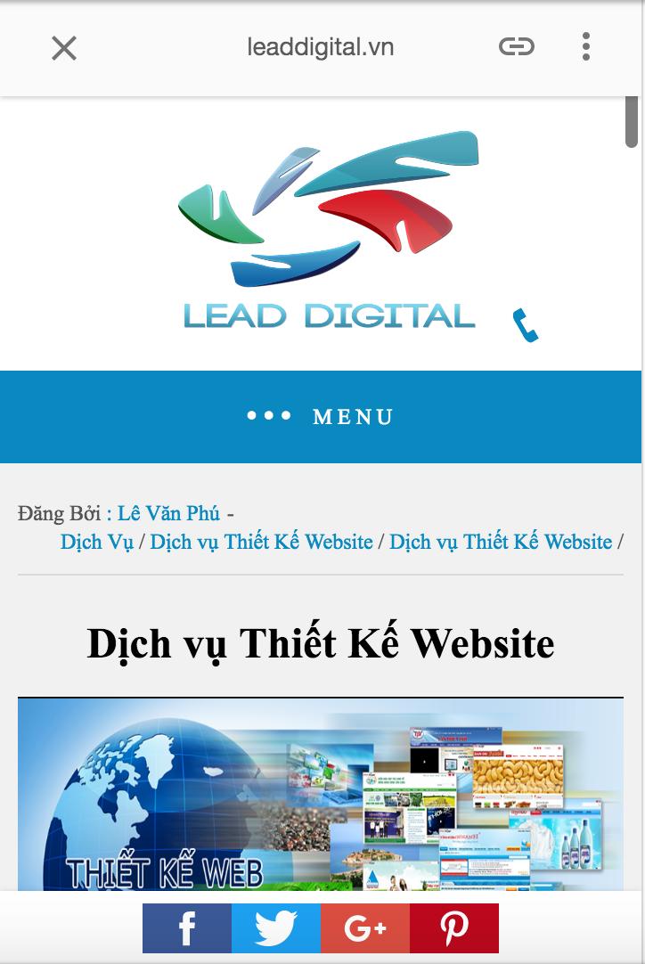Thiết kế website chuẩn SEO bằng Google AMP vàHTML5